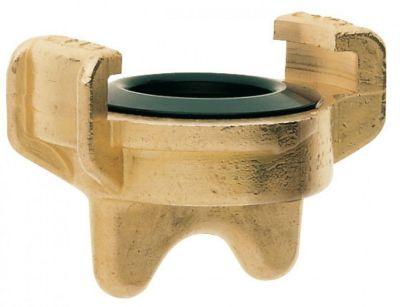 Geka Karasto Geka plus-Blindkupplung für Trinkwasser, mit Bohrung, Messing