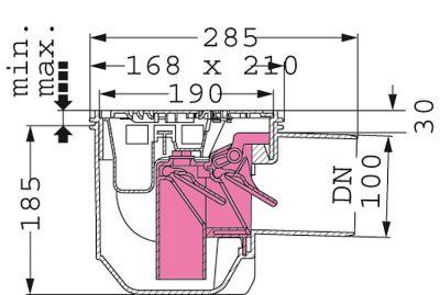 kessel drehfix gr e 1 bodenablauf mit r ckstauverschluss 2730 meisterbetrieb im. Black Bedroom Furniture Sets. Home Design Ideas