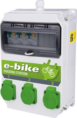 Ladestation e-Bike 250V/16A, 3x 6A FI/LS TypA 30mA BxTxH 222