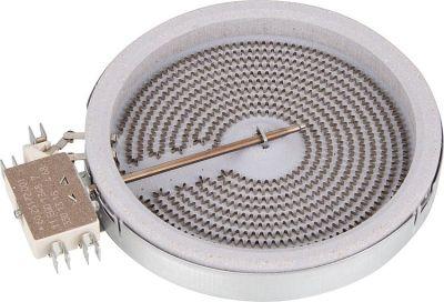 HiLight-Heizkörper 1200W-230V, d=140mm, DP-Zunge