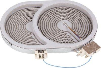 HiLight-Heizkörper Braeter/oval 2400/900 W-230V, d=170/265mm