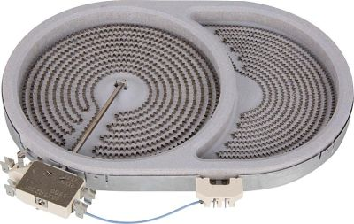 EVENES HiLight-Heizkörper Braeter/oval 2400/800W-230V, d=170/265mm
