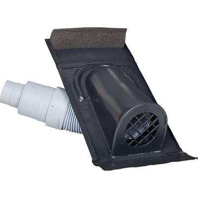 Marzari Technik Entlüftungshaube Typ Ton mit PVC-Schlauch, schwarz-grau