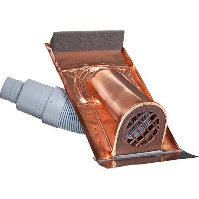 Marzari Technik Entlüftungshaube Kupfer mit Kunstoff Balg Universal-Ausführung
