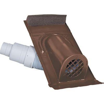 Marzari Technik Entlüftungshaube Typ Ton mit PVC-Schlauch, Farbe Braun