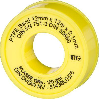 ULITH PTFE-Gewindedichtband GRp (Grobgewinde) 1 Stück gelber Kern/gelbe Hülle