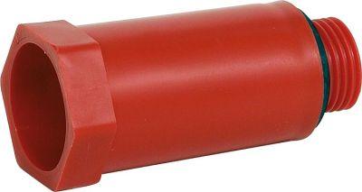 Evenes Baustopfen 1/2 mit Kunststoffgewinde rot