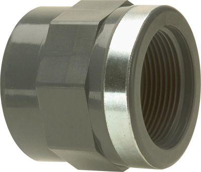 PVC-U - Klebefitting Übergangs-Gewindemuffe 20 mmx1/2 IG