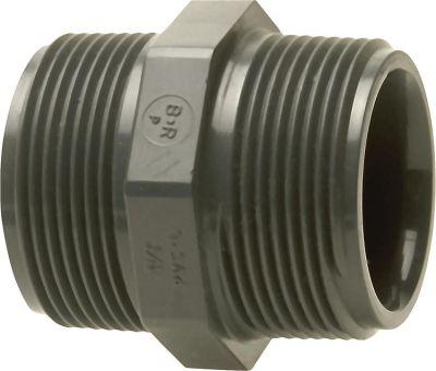 PVC-U - Klebefitting Doppelnippel 11/2