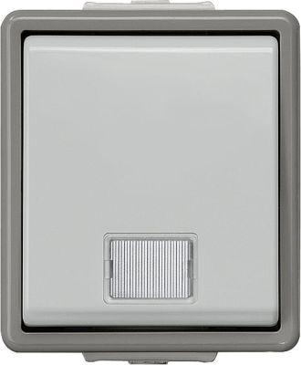 Aufputz-Taster nach Arbeitsstättenverordnung 75 mm x 66 mm