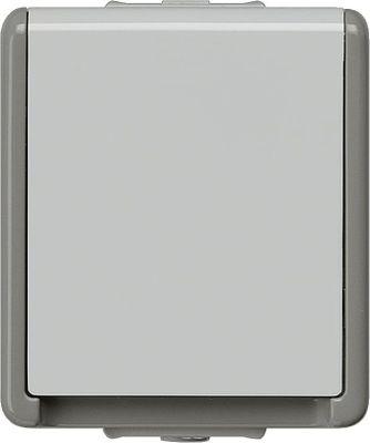 Aufputz-SCHUKO-Steckdose 75 mmx 66 mm x 54 mm 1fach