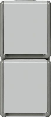 Aufputz-SCHUKO-Steckdose 151 mm x 66 mm x 54 mm 2fach