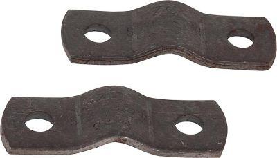 2-teilige Rohrschelle mit abgerundeten Enden, DN 40 x 49 mm