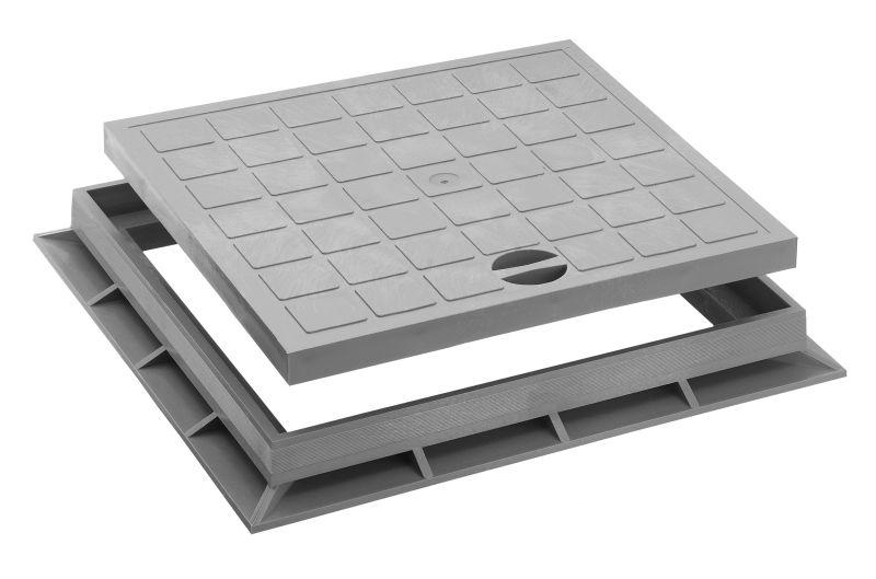 Upmann Schachtabdeckung 30x30 cm mit Rahmen 80351