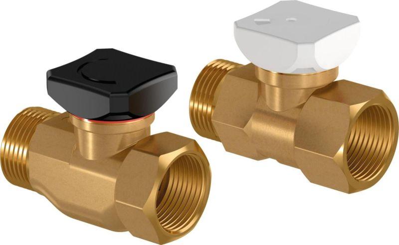 Kompakt Verteiler Uponor SPI Vario Handrad Rücklaufventil 1005102 Anschluss