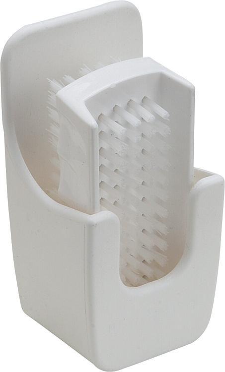 Handwaschbürste Kunststoff mit Wandhalterung Farbe:weiß