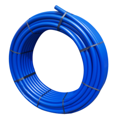 PE-Rohr 25x2,3 PN12,5 3/4 25m mit blauen Streifen 252302512
