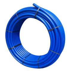 PE-Rohr 25x2,3 PN12,5 3/4 50m mit blauen Streifen 252305012