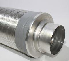 Flexibler Telefonie-Schalldämpfer DN80 mit 50mm Schallpacku
