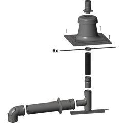 Abgasleitung flex. 12,5m Grundbausatz DN 60 Wolf, 2652001