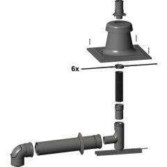 Bausatz C93x DN80/125 senkrechte Abgasl. flex, 2652002