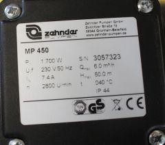 Zehnder Gartenpumpe MP 450 Herst-Nr.15534