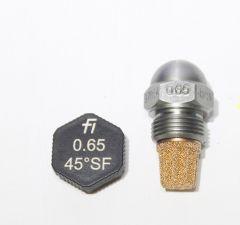 Fluidics Ölbrennerdüse Vollkegel 0,65/45°SF