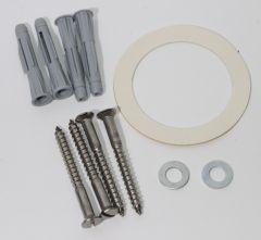 Haas Kunststoff-Ausgussbecken mit Spritzschutz und Überlauf weis