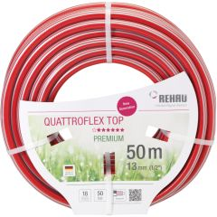 Rehau Wasserschlauch 1/2 20m Quattroflex Top rot/grau