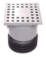 AIRFIT Bodenablauf Profi Höhenverstellbar und drehbar Muffe DN110 - Muffe DN90 - Muffe