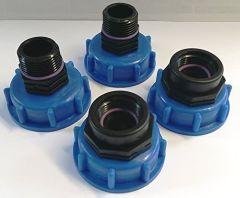 Auslaufhahn mit Kunststofftülle und Auslaufstutzen mit Steck