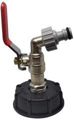IBC Adapter für Ablauf 1/2 Zoll für Garten, Wasserhahn