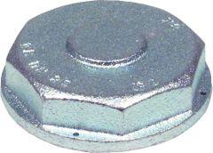 Einstutzen-Verschlusskappe DN25 Anschluss-Gewinde R 2 verzi