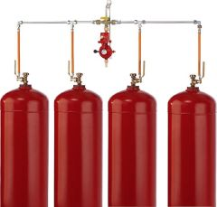 GOK Flaschenanlage mit manueller Umschalteinrichtung Vierfach