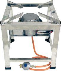 Hockerkocher 10 kW Edelstahlausführung