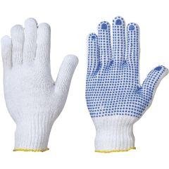 Strick-Handschuh genoppt Baumw./Polyester Gr.10