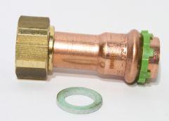 Kupfer Pressfitting Verschraubung 22x3/4