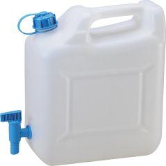 Wasserkanister Kunststoff 12 Liter mit Ablasshahn