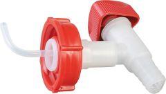 Ablasshahn Kunststoff weiß/rot für 5+10 Liter Kanister