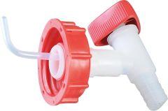 Ablasshahn Kunststoff weiß/rot für 25 Liter Kanister