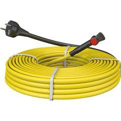 EVENES Frostschutz-Kabel f.Metallrohre, steckerfertig mit Thermostat, 8 Meter - 80W