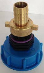 Auslaufadapter mit Stecker passend für Gardena, IBC-Containe