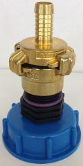 Kappenverschraubung S60x6 + GEKA - Messing-Kupplung IG 1 un