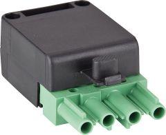 Stecker 4-polig grün/schwarz, 250/400V, 16A System Wieland