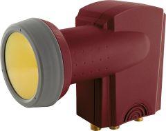 Schwaiger Digitales Quattro-LNB Ziegelrot RAL 8012 40mm