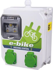Ladestation e-Bike 250V/16A, 2x 6A FI/LS TypA 30mA BxTxH 204