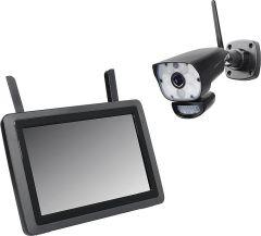 PENTATECH Funk-Überwachungskamera-Set inkl. Kamera und 9 Zoll LCD- Monitor, DW700 Set