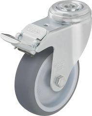 Lenkrolle m. Feststeller aus Stahl LKRA TPA 80G-FI, Gummi-La