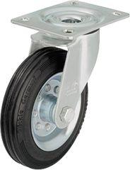 Blickle Vollgummilenkrolle mit Stahlblech-Felge LE-VE 160R