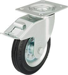 Blickle Vollgummilenkrolle mit Feststeller 70 kg Rad D=100mm